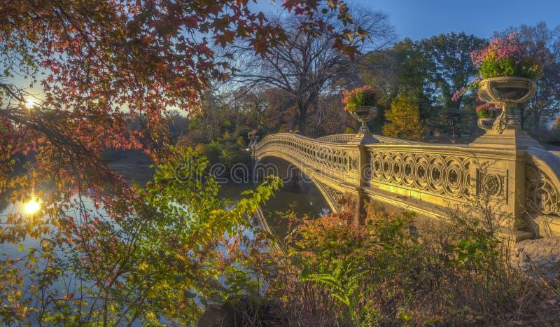 Bow bridge in autumn stock photo