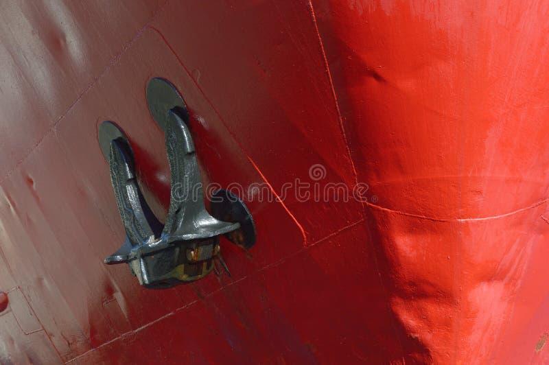 Bow of a cargo ship royalty free stock photos