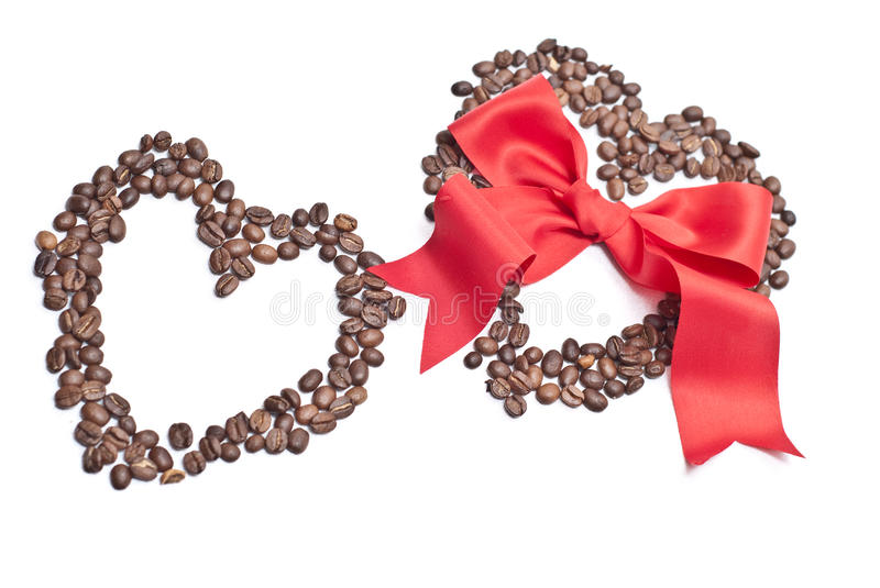 Bow And Coffee Royalty Free Stock Photography
