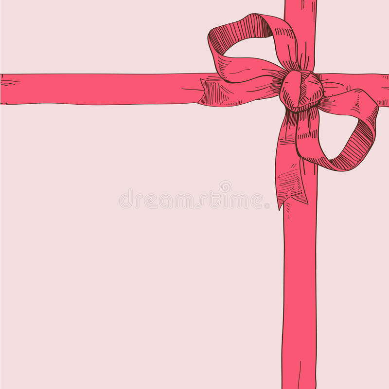 Bow In The Corner Royalty Free Stock Photos