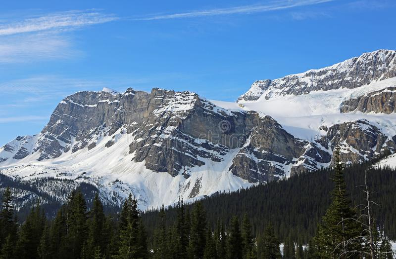 Bow Crow Peak. Banff National Park, Alberta, Canada stock photography