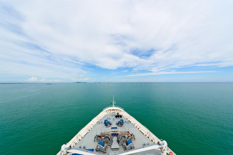 Download Bow of a cruise ship stock image. Image of marine, navigate - 19712043