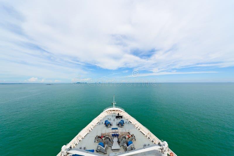 Bow of a cruise ship stock photos