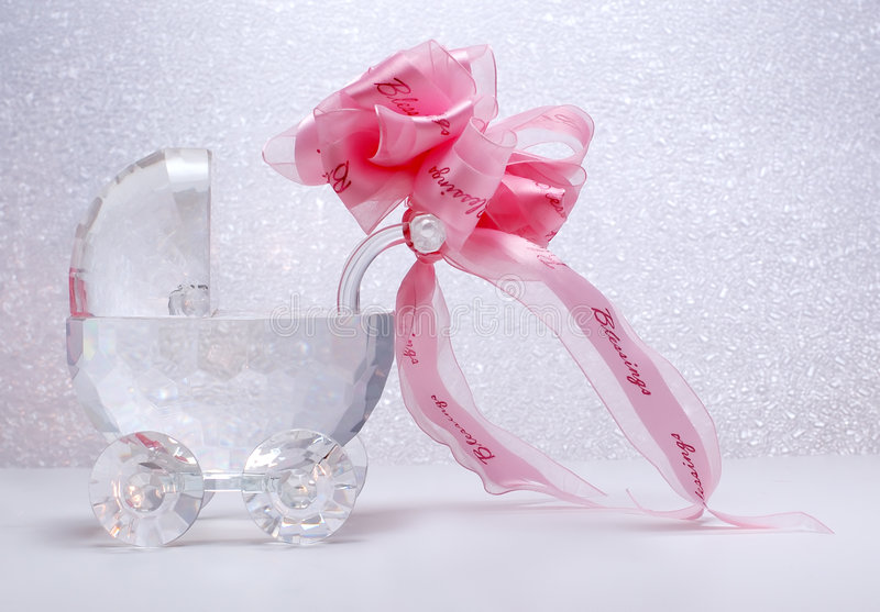 bow crystal newborn ribbon stroller στοκ εικόνες
