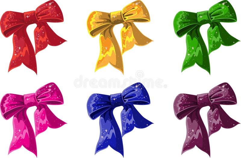 Bow of of different colors royalty free stock images
