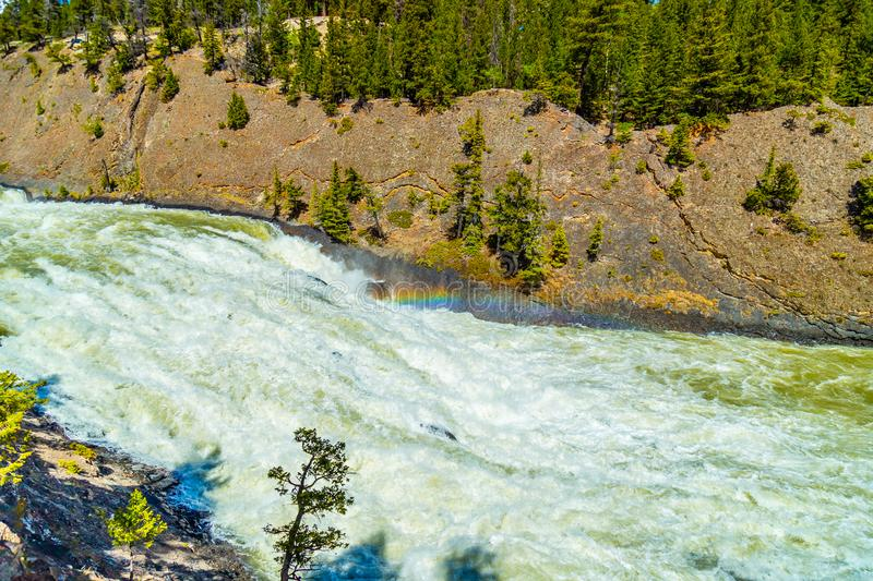 Bow Falls in Banff National Park royalty free stock photography