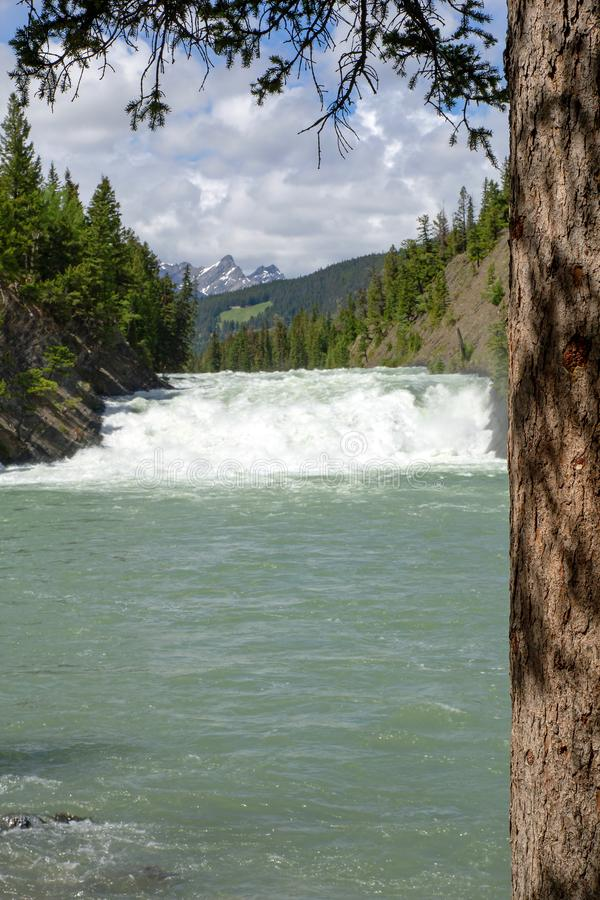 Bow Falls, Bow River, Banff, Rocky Mountains, Alberta, Canada stock image