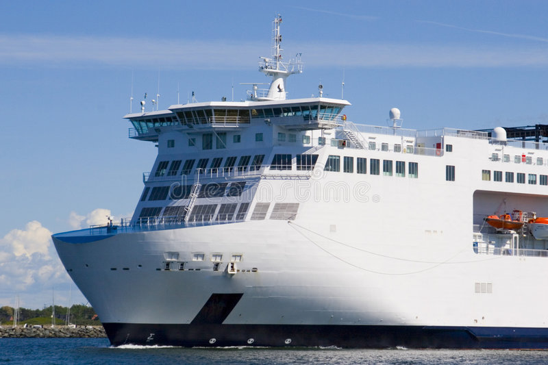 Download Bow of a ferry stock image. Image of germany, holiday - 1141817