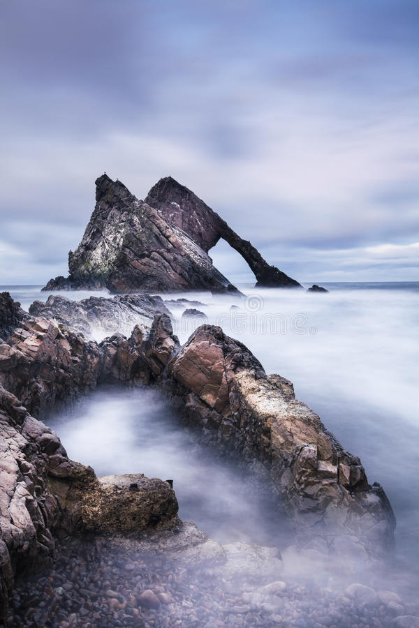 Free Bow Fiddle Rock On The Moray Coast Of Scotland Royalty Free Stock Photo - 86174215