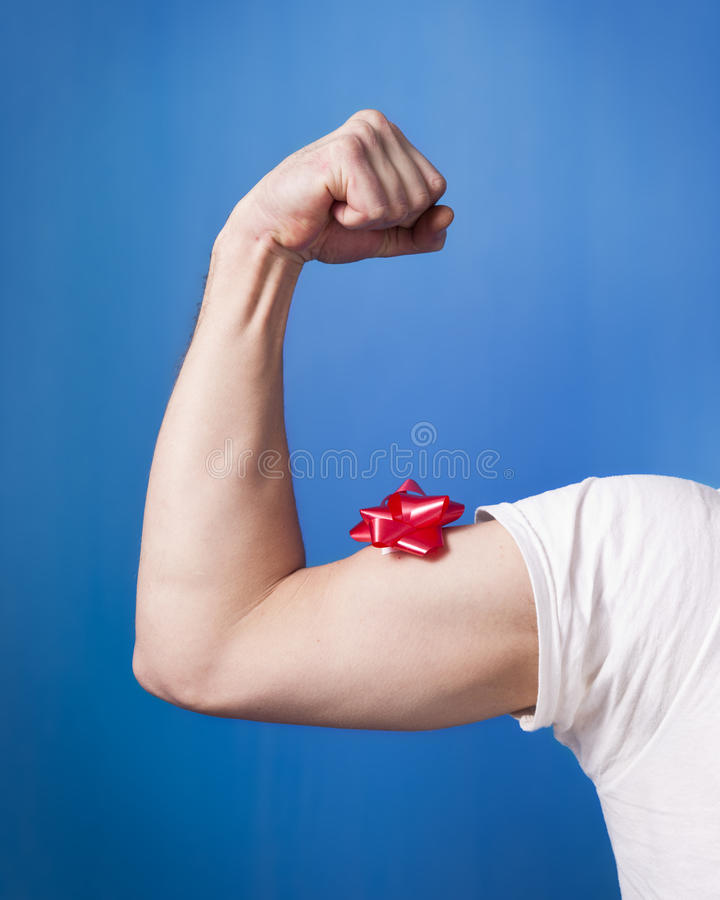 Bow Flex with T-Shirt stock photography