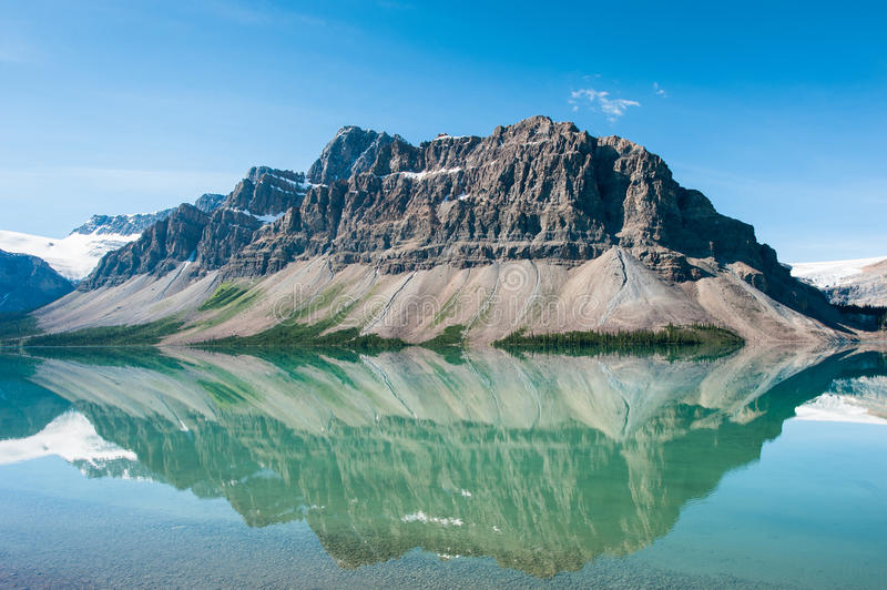 Bow Lake. In Banff National Park, Canada stock images