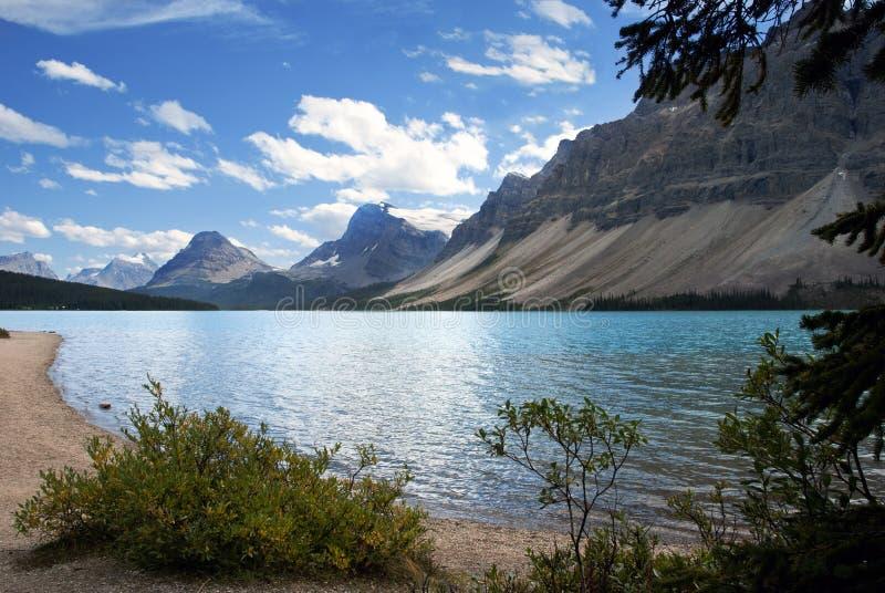 Bow Lake. Banff National Park, Alberta, Canada royalty free stock photos