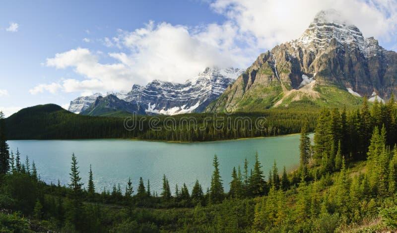Bow Lake. Alberta, Banff National Park, Canada royalty free stock photography