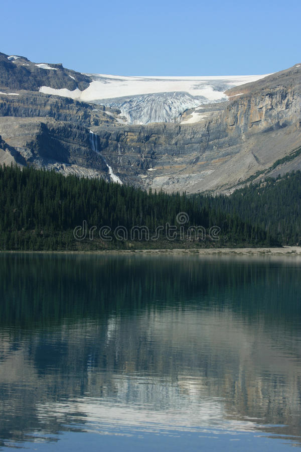 Download Bow Lake and Bow Glacier stock photo. Image of scenic - 11467548