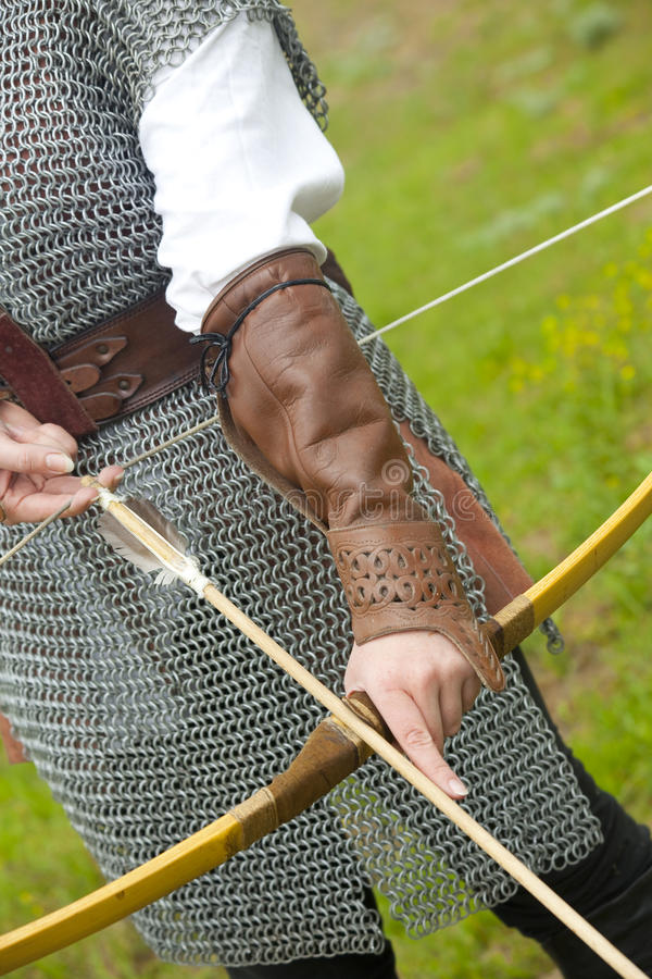 Bow / medieval armor. / historical story royalty free stock photo