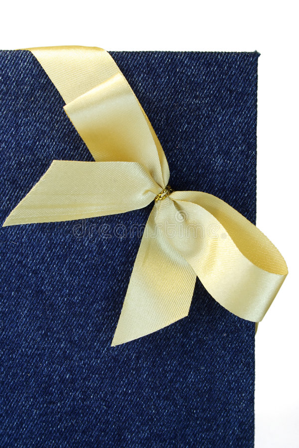 Bow and notebook. royalty free stock photography