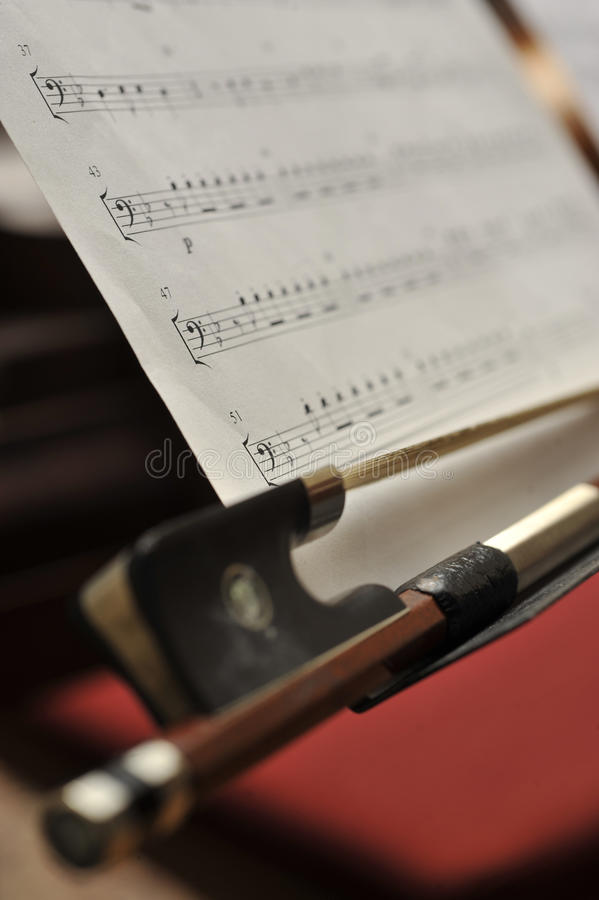Bow And Notes Stock Image