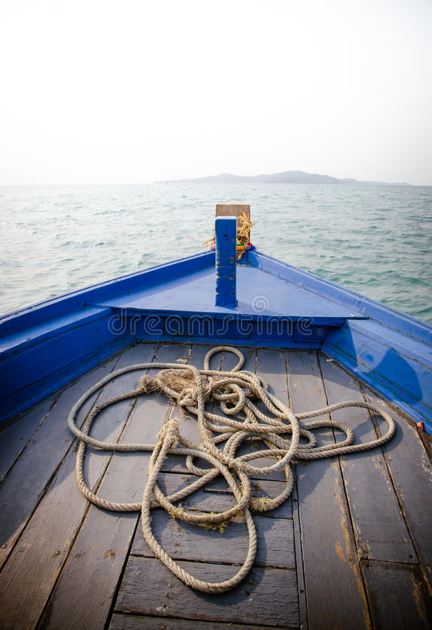 Free Bow Of A Blue Boat Royalty Free Stock Photos - 51902788