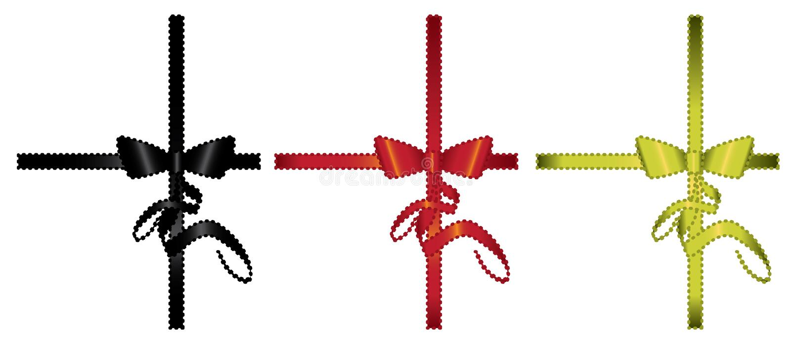 Bow and Ribbon gift Element royalty free illustration