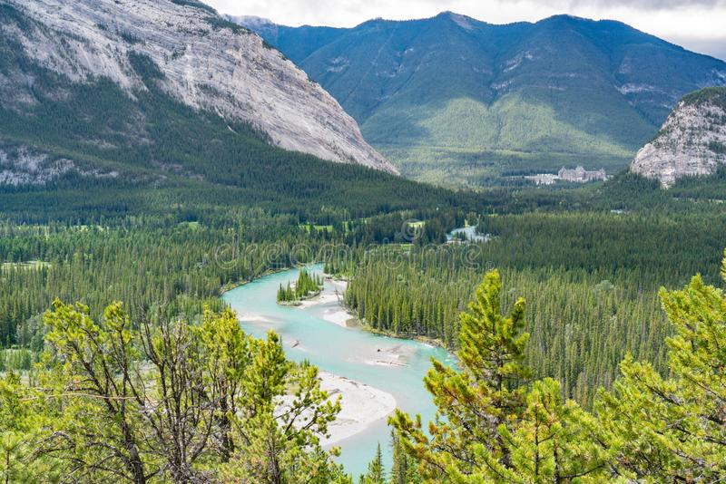 Bow River Banff, Canada royalty free stock images