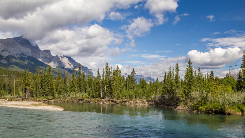 Bow River - Banff National Park - Alberta - Canada royalty free stock photography