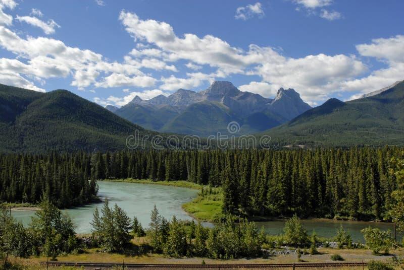 Bow River Near Banff Nat L Par Stock Photography