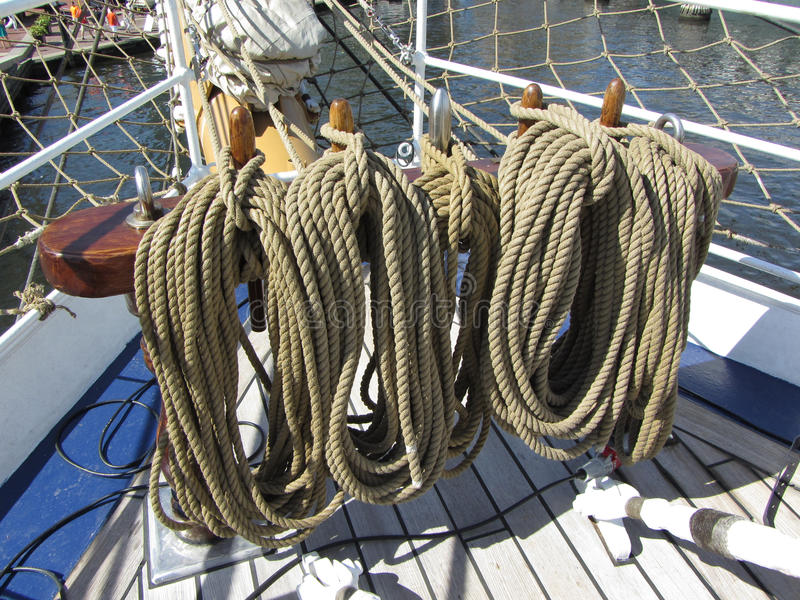 Download Bow Ropes stock photo. Image of thick, sunlit, retro - 25285094