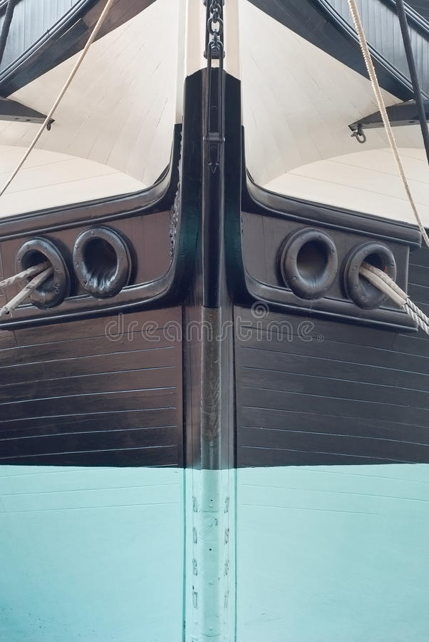 Bow of a Sailing Ship royalty free stock image