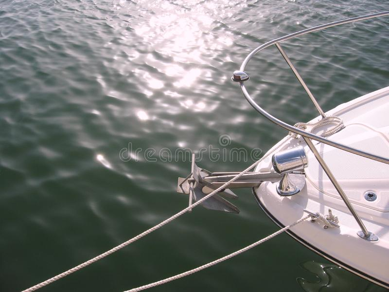 Bow Section of a Yacht royalty free stock image
