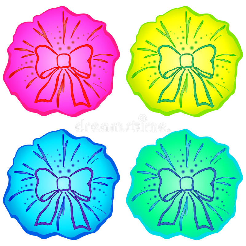 Download Bow set stock vector. Image of celebrate, collection - 17501926