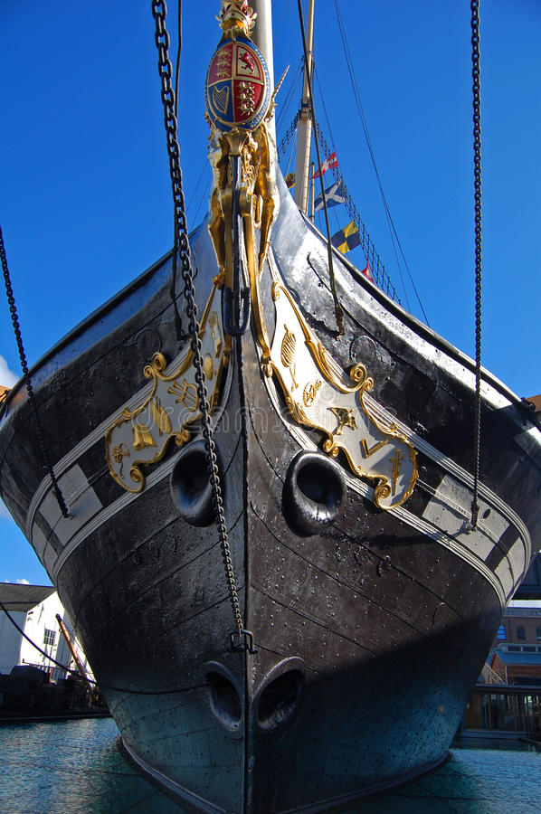 Download Bow Of The Ss Great Britain Stock Photo - Image: 18330142