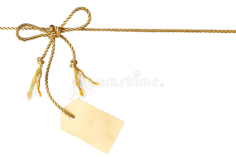 Download Bow with tag stock image. Image of gift, ornate, birthday - 11884007