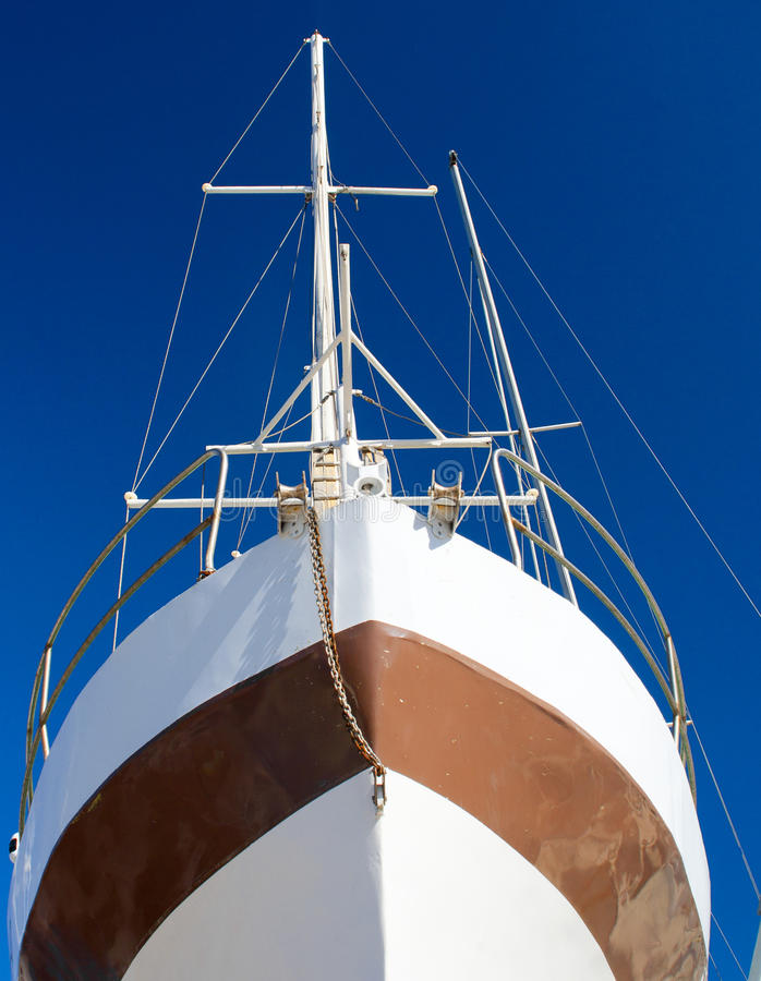 Bow Of A Tallship Stock Image