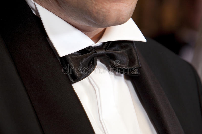 Bow tie. A man with a bow tie stock photos