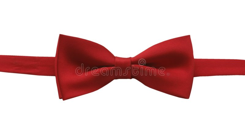 Bow tie. Red bow tie-isolated stock photo