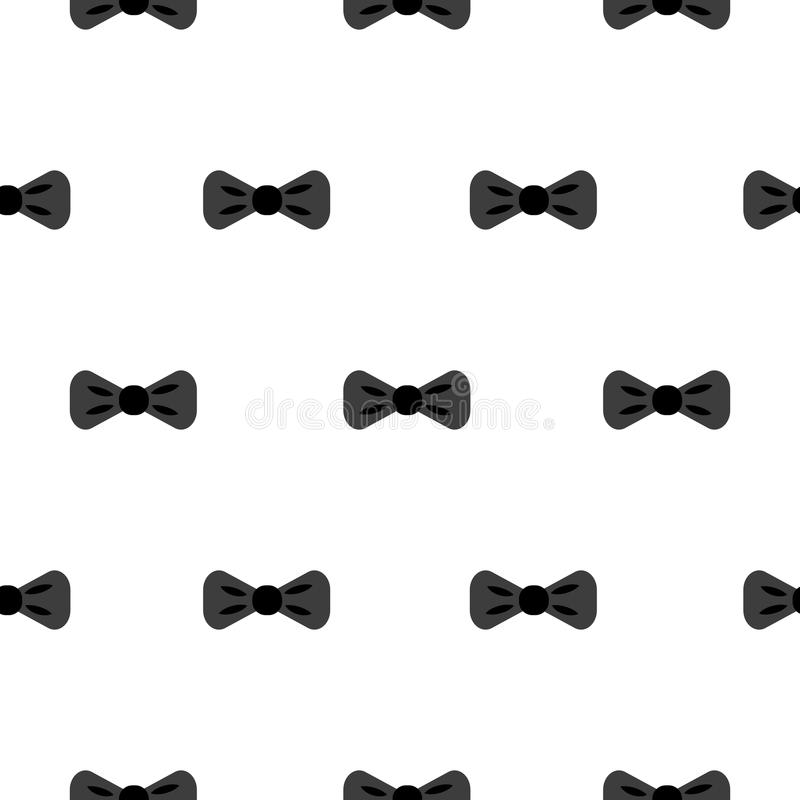 Bow tie black and white seamless pattern. stock illustration