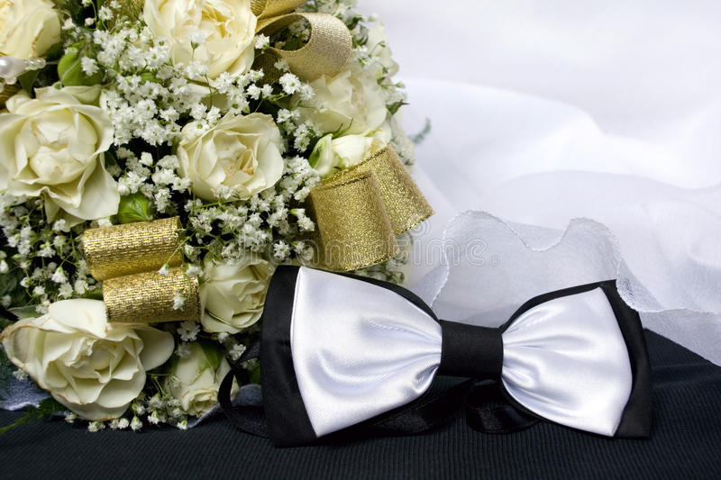 Bow Tie and Bouquet