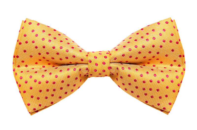 Bow tie. Funky polka dotted bow tie isolated on white background royalty free stock photos