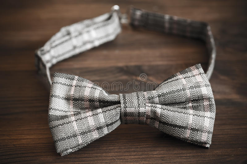 Bow tie. Italian silk bow tie in close up royalty free stock photo