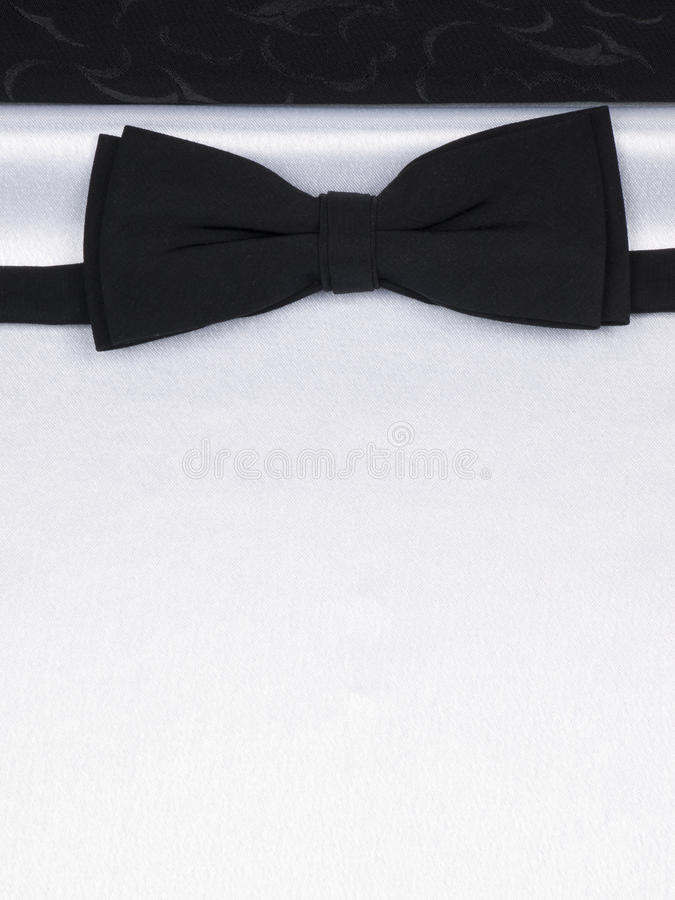 Free Bow Tie On A Black And White Silk Stock Image - 17737281