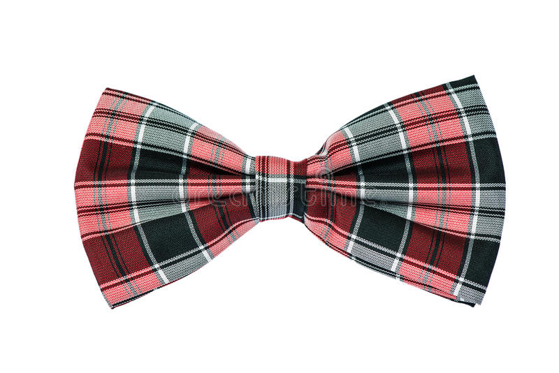Bow tie. With red and black cell, isolated on a white background stock image