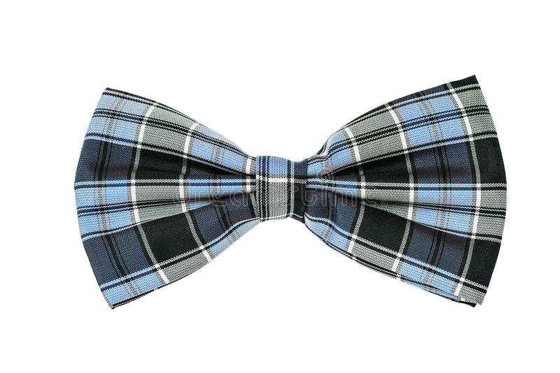 Bow tie. With red and black cell, on a white background stock photos