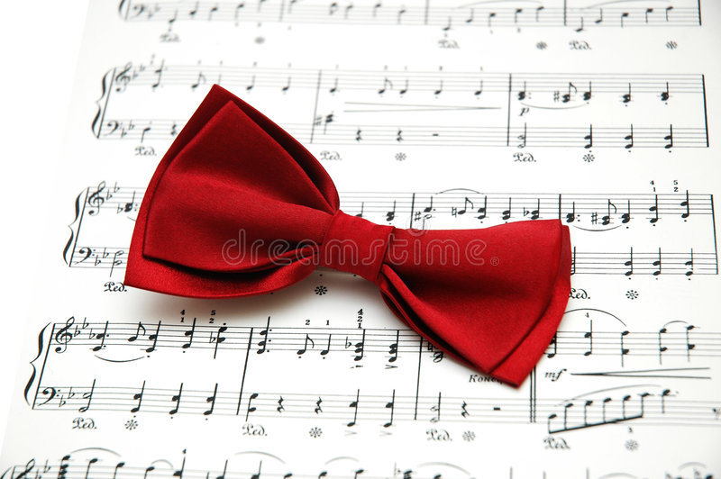 Download Bow tie on sheet stock photo. Image of composition, bowtie - 1718576