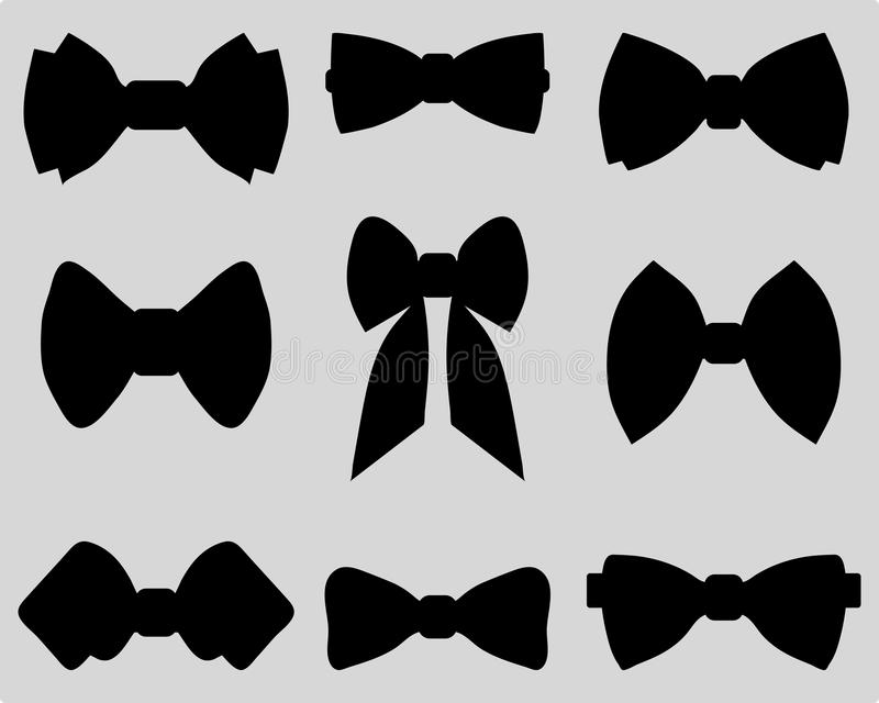 Bow ties vector illustration