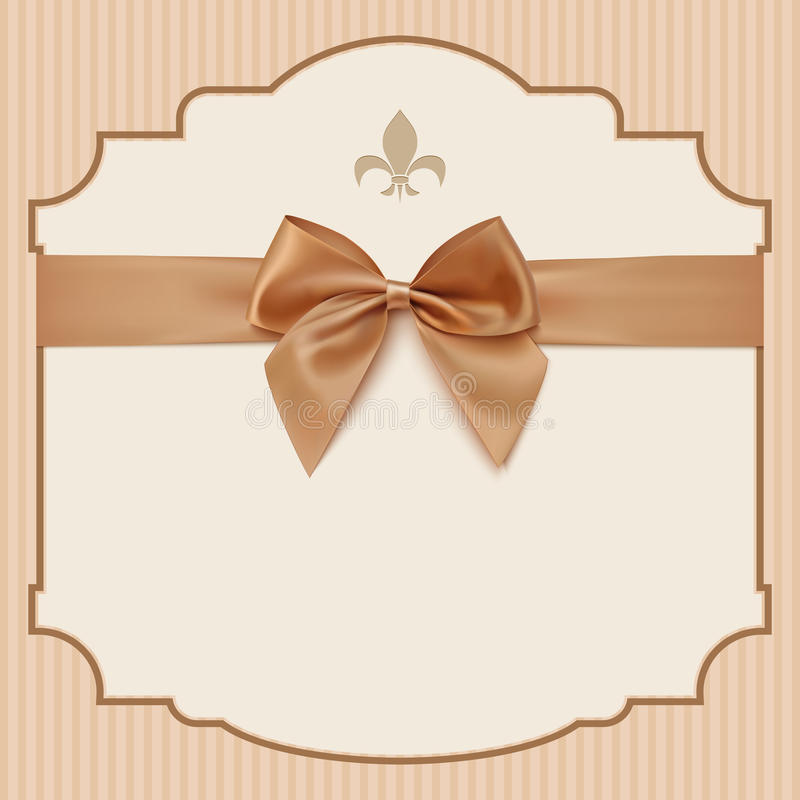 Bow wedding invitation card ntage greeting card stock vector download bow wedding invitation card ntage greeting card stock vector illustration of background stopboris Image collections
