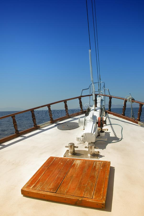 Bow Of Yacht royalty free stock photography