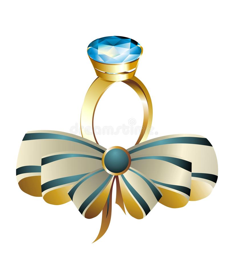 bowdiamantcirkel stock illustrationer