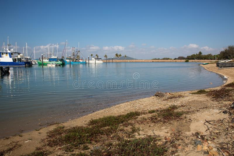Bowen, Queensland. Early morning view of Harbour. royalty free stock photo