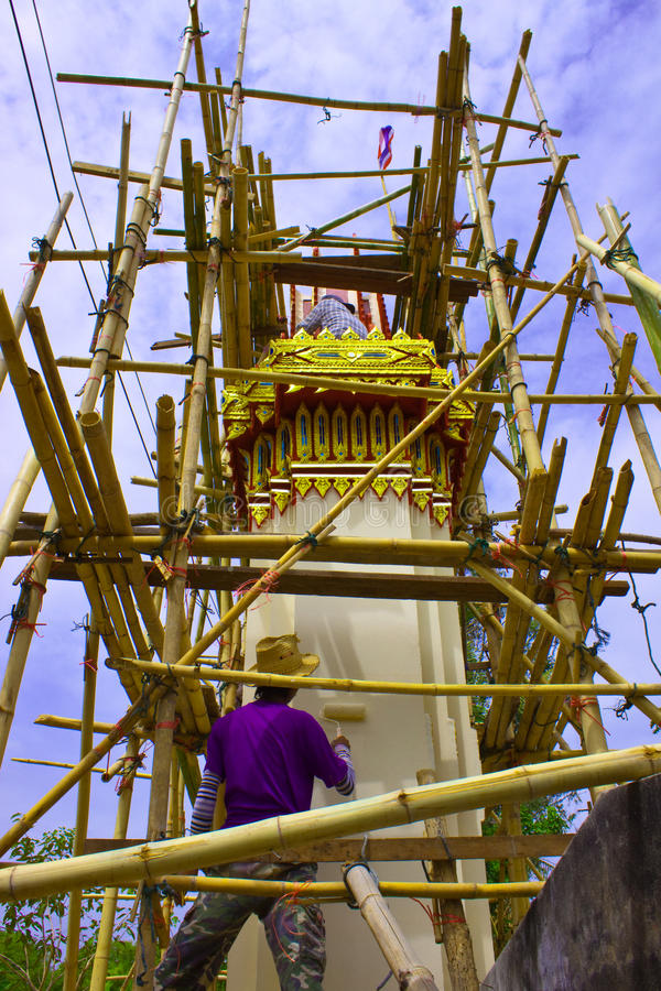 Download Bower on advancement stock photo. Image of scaffolding - 19242466