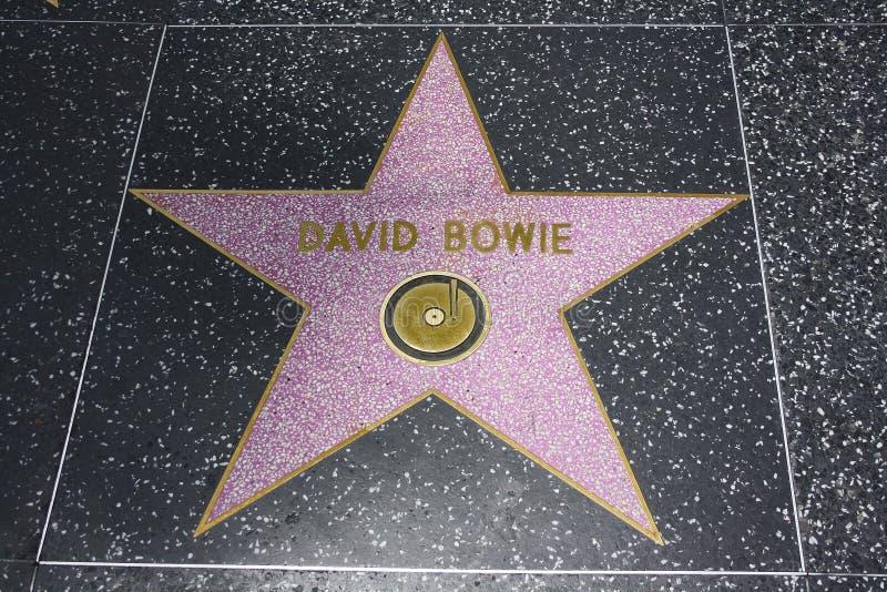 bowie David sławy Hollywood spacer fotografia royalty free